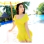 ชุดว่ายน้ำทูพีชสีเหลือง เสื้อ+กางเกง รอบอก 32-36 เอว 28-32 สะโพก 34-38 ตัวเสื้อยาว 30 นิ้วค่ะ thumbnail 2