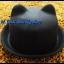 หมวกชาลี หมวกชาลีมีหูสีดำ ผ้าสักหลาด ** รูปถ่่ายจากสินค้าจริงที่ขายค่ะ** thumbnail 1