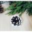 Snow Pinecone ลูกสนธรรมชาติ สีน้ำตาลเข้ม แต้มขอบปีกด้วยสีขาว thumbnail 5