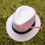 หมวกปานามาปีกกว้าง หมวกสาน หมวกปานามาสีชมพูคาดดำ พร้อมส่งค่ะ ปีกกว้าง 5 ซม รอบศรีษะ 57-58 ซม. thumbnail 3