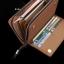 กระเป๋าสตางค์ใบยาว กระเป๋าสตางค์ผู้ชายใบยาว หนัง PU สีน้ำตาลเข้ม thumbnail 6