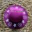 หมวกปีกกว้าง หมวกเที่ยวทะเล หมวกผ้าวูล สีม่วง แต่งลายดอกไม้ขาวรอบปีก thumbnail 3