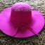 หมวกปีกกว้าง หมวกเที่ยวทะเล หมวกผ้าวูล สีชมพู แต่งโบว์รอบ thumbnail 1