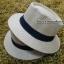 หมวกปานามา สีน้ำตาลเข้มคาดดำ รอบศรีษะ 57-59 cm. thumbnail 1