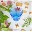 Vintage Short Glass Cup - Blue Flowers thumbnail 2