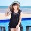 ชุดว่ายน้ำคนอ้วนเสื้อ+กางเกง รอบอก 46-50 รอบเอว 34-44 สะโพก 42-56 นิ้ว ตัวเสื้อยาว 32 นิ้ว ผ้าดี งานสวยมากค่ะ thumbnail 1