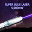 (Super Blue laser) เลเซอร์น้ำเงิน แรง x2 เผากระดาษไหม้ thumbnail 3