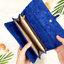 กระเป๋าสตางค์ผู้หญิง ทรงยาว รุ่น Table สีน้ำเงินเข้ม ใส่มือถือไอโฟน 6s พลัสได้ ส่งพร้อมกล่อง thumbnail 5