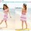 ชุดว่ายน้ำไซส์เล็ก เซต 3 ชิ้น สีชมพู รอบอก 30-32 กางเกง เอว26-30 สะโพก 36-40 นิ้ว ค่ะ thumbnail 1