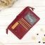กระเป๋าสตางค์หนังแท้ หนังนิ่ม สีแดงเลือดนก รุ่น Contacts two Zipper Red ส่งพร้อมกล่อง thumbnail 5