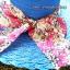 หมวกปีกกว้าง หมวกเที่ยวทะเล หมวกปีกว้างสีน้ำเงินน่ารักๆค่ะ แต่งโบว์ใหญ่ลายดอกไม้วินเทจรอบเก๋ ๆ thumbnail 4