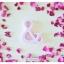 Spring Beauty - สัญลักษณ์ & (Ampersand) ตั้งโต๊ะ งานไม้สัก โทนสีชมพู thumbnail 1