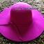 หมวกปีกกว้าง หมวกเที่ยวทะเล หมวกผ้าวูล สีชมพู แต่งโบว์รอบ thumbnail 4