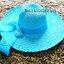 หมวกปีกกว้าง หมวกเที่ยวทะเล หมวกปีกว้างสีฟ้า แต่งโบว์ใหญ่ thumbnail 2