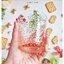 Vintage Short Glass Cup - Peach Flowers thumbnail 3