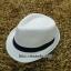 หมวกปานามาปีกสั้น หมวกสาน หมวกปานามา สีครีมเข้ม คาดผ้าสีดำ พร้อมส่งค่ะ thumbnail 1