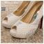 รหัส รองเท้าไปงาน : RR002 รองเท้าเจ้าสาวสีขาว พร้อมส่ง ตกแต่งมุขและกริตเตอร์ สวยสง่าดูดีแบบเจ้าหญิง ใส่เป็นรองเท้าคู่กับชุดเจ้าสาว ชุดแต่งงาน ชุดงานหมั้น หรือ ใส่เป็นรองเท้าออกงาน กลางวัน กลางคืน สวยสง่าดูดีมากคะ ราคาถูกกว่าห้างเยอะ thumbnail 2