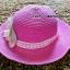 หมวกปีกกว้าง หมวกเที่ยวทะเล หมวกสาน สีชมพูเข้ม แต่งโบว์ดอกไม้รอบเก๋ ๆ รอบศรีษะ 59 cm / ปีกกว้าง 8 cm thumbnail 2