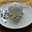หมวกปีกกว้าง หมวกไปทะเล หมวกสานโทนน้ำตาล แต่งโบว์ลายเก๋ๆ thumbnail 3
