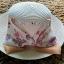 หมวกปีกกว้าง หมวกไปทะเล หมวกสาน สีน้ำตาลแต่งโบว์รอบเก๋ๆ รอบศรีษะ 64 cm / ปีกกว้าง 6.5 cm ***ถ่ายจากสินค้าจริงที่ขายค่ะ*** thumbnail 1