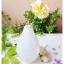 White Oval Glass Vase แจกันแก้วทรงรี สีขาว thumbnail 2