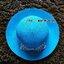 หมวกปีกกว้าง หมวกเที่ยวทะเล หมวกสาน สีฟ้า แต่งโบว์ลายจุดรอบเก๋ ๆ thumbnail 3