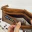 กระเป๋าสตางค์หนังแท้ หนังนิ่ม กระเป๋าสตางค์ผู้ชาย สีน้ำตาล รุ่น Contacts two Zipper Brown ส่งพร้อมกล่อง thumbnail 8