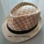 หมวกปานามา หมวกสาน หมวกปานามาปีกสั้นแต่งลาย โทนครีม +ลายน้ำตาลคาดดำ สินค้าพร้อมส่งค่ะ thumbnail 1