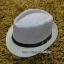 หมวกปานามาปีกสั้น หมวกสาน หมวกปานามา สีอ่อนทูโทน คาดเข็มขัดน้ำตาล พร้อมส่งค่ะ thumbnail 1