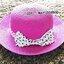 หมวกปีกกว้าง หมวกเที่ยวทะเล หมวกสาน สีชมพูเข้ม แต่งโบว์ลายจุดรอบเก๋ ๆ thumbnail 1