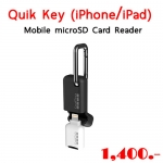 Quik Key (iPhone®/iPad®) Mobile microSD™ Card Reader