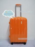 กระเป๋าเดินทางยี่ห้อไฮโปโล ของแท้ รับประกัน 2 ปี ขนาด 24 นิ้ว สีส้ม
