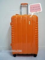 กระเป๋าเดินทางยี่ห้อไฮโปโล ของแท้ รับประกัน 2 ปี ขนาด 28 นิ้ว สีส้ม