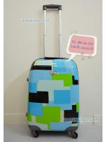 กระเป๋าเดินทางล้อลาก 20 นิ้ว รุ่น Square Color โทนสีฟ้าเขียว