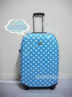 กระเป๋าเดินทางลายจุดสีฟ้า 28 นิ้ว big kawaii dot