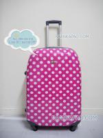กระเป๋าเดินทางลายจุดสีชมพู 28 นิ้ว big kawaii dot