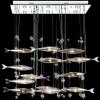 โคมไฟระย้าปลา LED