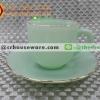 ถ้วยกาแฟเนื้อมุกพร้อมจานรอง 025-LD60-CJ สีหยก jade