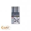 ชุดปากกาพู่กันKoi ชุด6สี(โทนสีเทา)