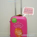 กระเป๋าเดินทางไฟเบอร์ ABS ไซส์ 20 นิ้ว สีชมพูบานเย็น