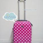 กระเป๋าเดินทางลายจุดสีชมพู 20 นิ้ว big kawaii dot
