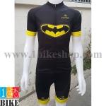 ชุดจักรยานแขนสั้น Super Hero Batman สีดำเหลือง