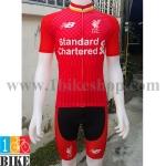 ชุดปั่นจักรยาน ทีมLiverpool สีแดง