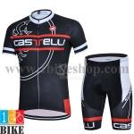 ชุดจักรยานแขนสั้น Castelli 2015 สีดำแดง