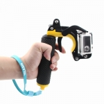 Floating Bobber handle with Pistol Trigger and Phone Clip Gadgets Set for GoPro Hero3+/Hero4,Yellow