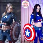 ชุดพรีเมียม กัปตันอเมริกาหญิง - Captain America Girl