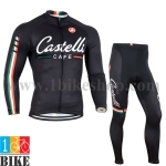 ชุดแขนยาว Castelli 2014 สีดำ