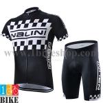 ชุดจักรยานแขนสั้น Nalini 2015 สำดำขาว