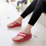 รองเท้าแตะ เพื่อสุขภาพ สไตล์ฟิทฟลอป เก็บทรงสวย (สีแดง )