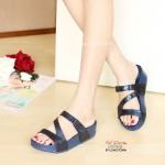 รองเท้าแตะ เพื่อสุขภาพ สไตล์ฟิตฟลอป (สีน้ำตาล )